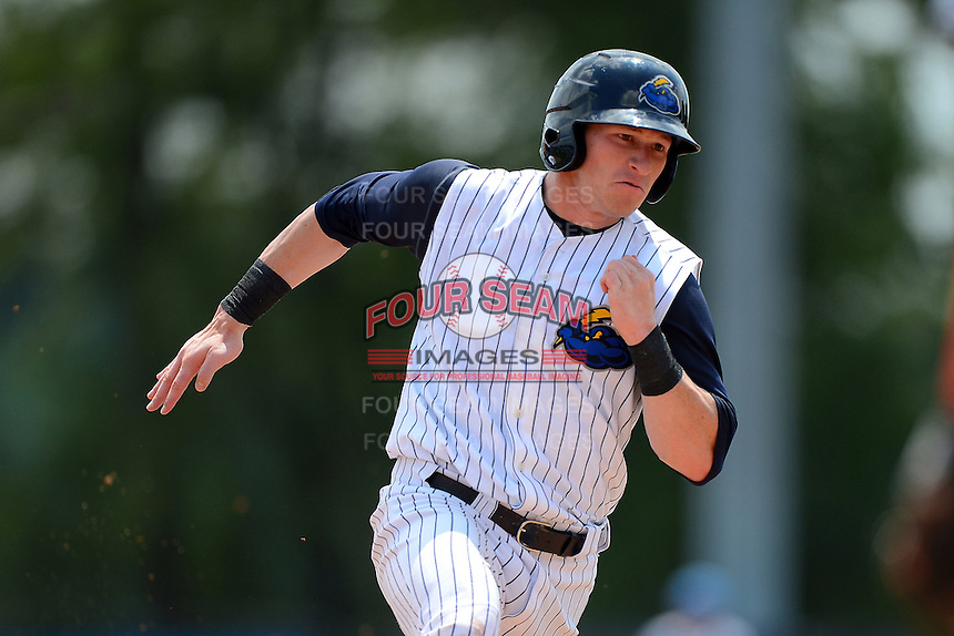 Trenton Thunder outfielder Slade Heathcott #11 during a game against the Reading Fightin Phils on July 8, 2013 at Arm & Hammer Park in Trenton, New Jersey.  Trenton defeated Reading 10-6.  (Mike Janes/Four Seam Images)