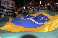 SÃO PAULO,SP, 16.03.2016 - PROTESTO-SP - Manifestantes realizam um protesto na Avenida Paulista, em São Paulo, na noite desta quarta - feira, (16), depois da nomeação do ex- presidente Luiz Inácio Lula da Silva como Ministro Chefe da Casa Civil, no governo de Dilma Rousseff. O grupo pede também pelo impeachment da presidente. (Foto: Eduardo Martins/ Brazil Photo Press)