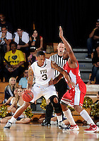 Florida International University guard-forward Dominique Ferguson (3) plays against Western Kentucky University, which won the game 61-51 on January 28, 2012 at Miami, Florida. .