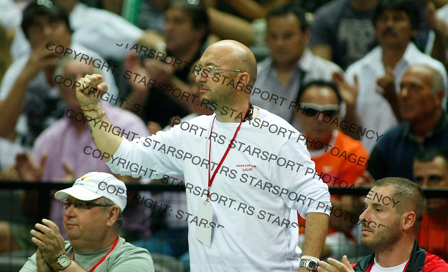 Tenis, Davis Cup 2010.Croatia Vs. Serbia, quaterfinals, doubles.Novak Djokovic Vs. Marin Cilic.assistent coach Jovan Lilic.Split, 11.07.2010..foto: Srdjan Stevanovic/Starsportphoto ©
