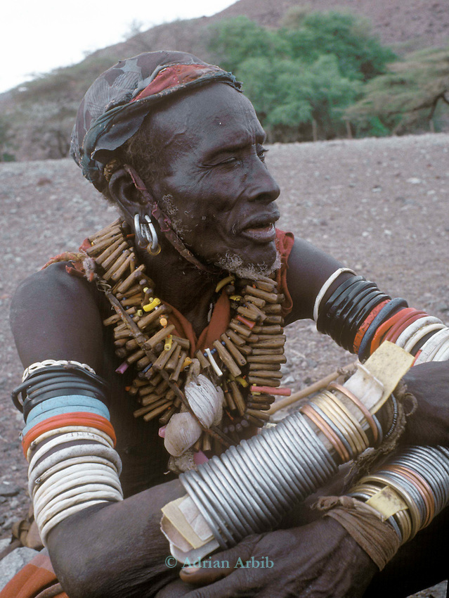 A Turkana man in the  Suguta valley ..Northern Kenya.....