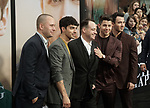 John Taylor, Kevin Jonas, Joe Jonas, Nick Jonas, Phil McIntyre  arrives at the Premiere Of Amazon Prime Video's Chasing Happiness at Regency Bruin Theatre on June 03, 2019 in Los Angeles, California.