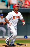 11 March 2006: Tony Blanco, infielder for the Washington Nationals, at bat during a Spring Training game against the Los Angeles Dodgers. The Nationals defeated the Dodgers 2-1 in 10 innings at Space Coast Stadium, in Viera, Florida...Mandatory Photo Credit: Ed Wolfstein.