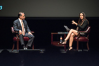 """Broadcast journalist Soledad O'Brien visits Occidental College with """"I Am Latino in America,"""" a national tour of conversations aimed at amplifying the Latino voice on critical community issues. Guests included: Soledad O'Brien, Award-winning journalist, Cristela Alonzo, Producer, Actor, Comedian, Loretta Sanchez, U.S. Representative (D-CA), Julissa Arce, Immigration and Education Advocate, Co-founder and Chairman of the Ascend Educational Fund, Rick Najera, Writer, Director, producer, Monica Lozano, Publisher and CEO, La Opinion, Jeff Valdez, Producer, Writer and Director, President, Valdez Productions and Taboo of the Black Eyed Peas. Students were also in the program as panel participants. October 15, 2015 in Thorne Hall.<br /> (Photo by Marc Campos, Occidental College Photographer)"""