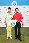 Players and VIPs attend a press conference ahead the Venetian Macau Open golf Tournament on 16 September 2013 at the Venetian Macao Resort, China. Photo by Victor Fraile / The Power of Sport Images