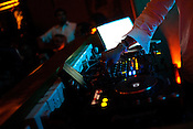 A DJ spins music in The club LAP located in Hotel Samrat in New Delhi, India. Photograph: Sanjit Das/Panos