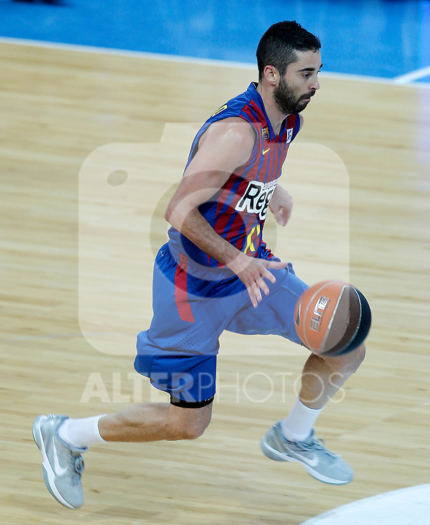 FC Barcelona Regal's Juan Carlos Navarro during Supercopa ACB Semifinal match.September 30,2011. (ALTERPHOTOS/Acero)