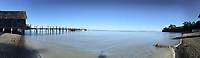 Fishing Village Panorama, China Camp State Park, San Rafael, California, US