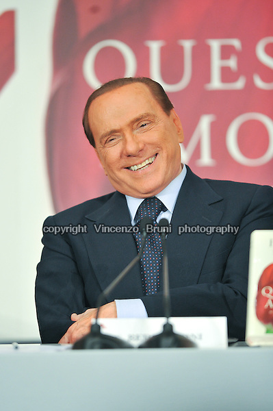 Silvio Berlusconi, TV editor and three times Italy's Prime Minister between 1994 and 2011.