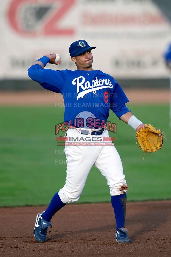 Bryant Hernandez - Ogden Raptors (2009 Pioneer League) playing against the Missoula Osprey at Lindquist Field, Ogden, UT - 08/22/2009..Photo by:  Bill Mitchell/Four Seam Images..