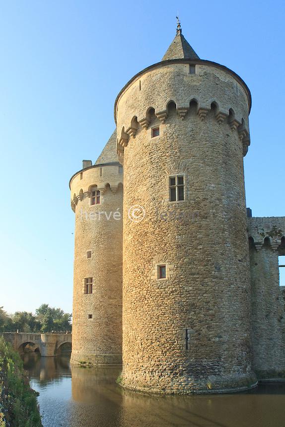 France, Bretagne, Morbihan (56), golfe du Morbihan, presqu'île de Rhuys, château de Suscinio //  France, Brittany, Morbihan, Gulf of Morbihan, Rhuys Peninsula, Castle of Suscinio