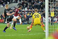 Felipe Anderson Of West Ham United scores the second Goal and celebrates  during West Ham United vs Burnley, Premier League Football at The London Stadium on 3rd November 2018
