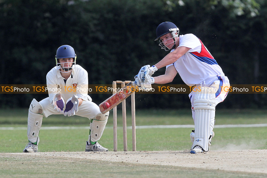 M Gooch in batting action for Hornchurch Athletic - Hornchurch Athletic CC vs Rainham CC - Mid-Essex Cricket League at Hylands Park - 13/07/13 - MANDATORY CREDIT: Gavin Ellis/TGSPHOTO - Self billing applies where appropriate - 0845 094 6026 - contact@tgsphoto.co.uk - NO UNPAID USE