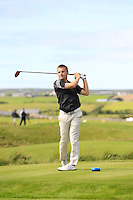 Declan Loftus (Castlebar) on the 14th tee during Round 2 of The South of Ireland in Lahinch Golf Club on Sunday 27th July 2014.<br /> Picture:  Thos Caffrey / www.golffile.ie