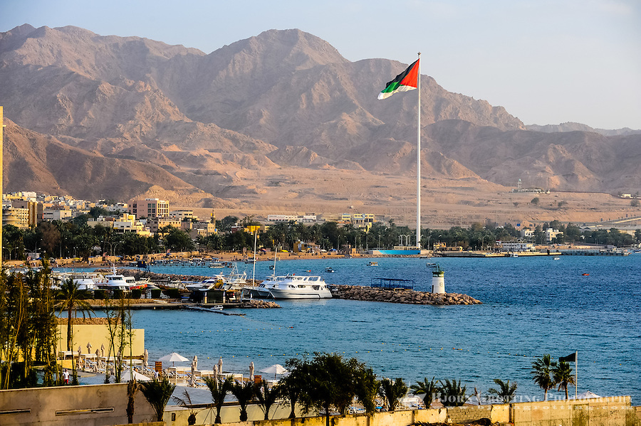 Aqaba is Jordan's only coastal city. One of the world's tallest flagpoles.