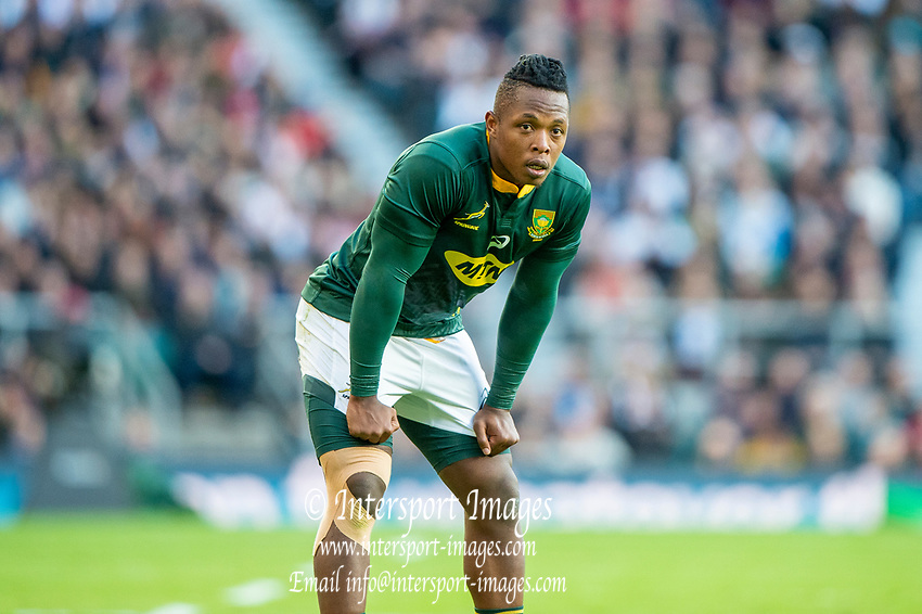 Twickenham, United Kingdom, Saturday, 3rd November 2018, RFU, Rugby, Stadium, England,   RSA  No. 14, Sibusiso NKOSI, during the Quilter, Autumn International, England vs South Africa, © Peter Spurrier