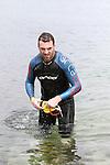 "at the Clogherhead ""Round the Head Swim""....(Photo credit should read Jenny Matthews/NEWSFILE)..."
