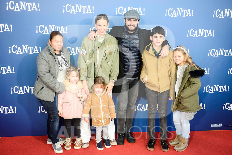 "Emiliano Suarez and Carola Baleztena attends to the premiere of the film ""¡Canta!"" at Cines Capitol in Madrid, Spain. December 18, 2016. (ALTERPHOTOS/BorjaB.Hojas)"