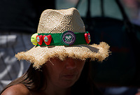 Fans with tennis hats on Court 1<br /> <br /> Photographer Ashley Western/CameraSport<br /> <br /> Wimbledon Lawn Tennis Championships - Day 3 - Wednesday 5th July 2017 -  All England Lawn Tennis and Croquet Club - Wimbledon - London - England<br /> <br /> World Copyright &copy; 2017 CameraSport. All rights reserved. 43 Linden Ave. Countesthorpe. Leicester. England. LE8 5PG - Tel: +44 (0) 116 277 4147 - admin@camerasport.com - www.camerasport.com