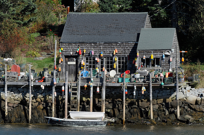 Fishing shack, Port Clyde, Maine, USA