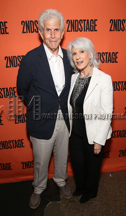 Tony Roberts and Jamie deRoy attends the Opening Night performance of 'A Parallelogram'  at The Second Stage Theatre on August 2, 2017 in New York City.
