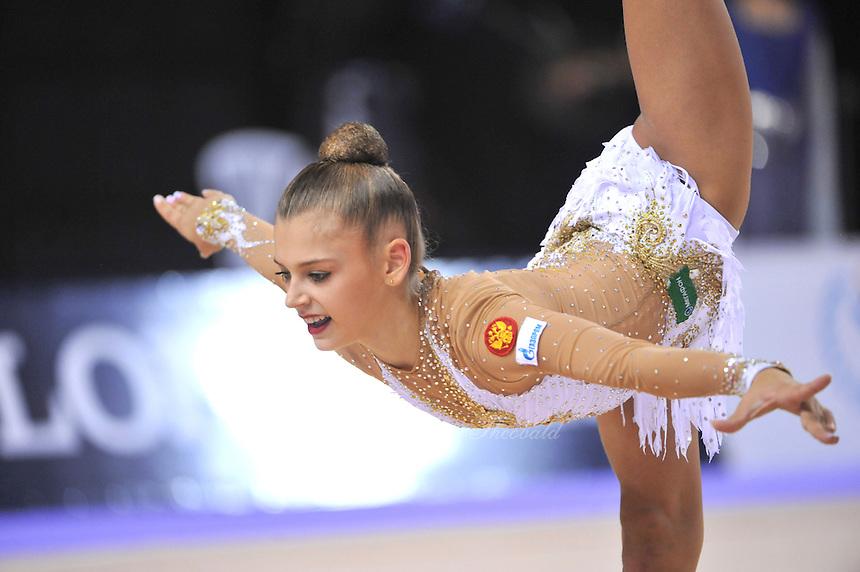 September 23, 2014 - Izmir, Turkey - ALEKSANDRA SOLDATOVA of Russia performs at 2014 World Championships.
