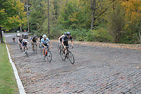 Feat #4 was the cobbled climb of Peterson Avenue. http://en.wikipedia.org/wiki/Peterson_Avenue_Hill