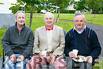 John O'Sullivan, John O'Sullivan and Frank Walsh  at the celebration in Christ The King Park, Ballymullen on Friday evening