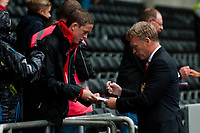Saturday 17 August 2013<br /> <br /> Pictured: David Moyes arriving at  the Liberty Stadium<br /> <br /> Re: Barclays Premier League Swansea City v Manchester United at the Liberty Stadium, Swansea, Wales