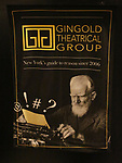 Poster for the the Gingold Theatrical Group's Golden Shamrock Gala at 3 West Club on March 16, 2019 in New York City.