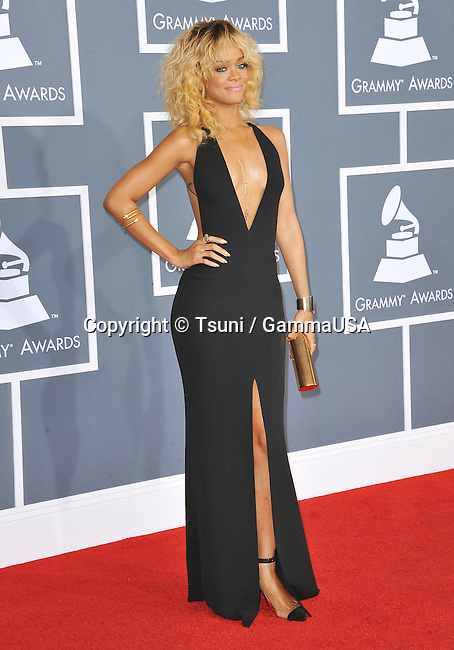 Rihanna _181 at  The  54th Annual GRAMMY Awards 2012 at the Staples Center In Los Angeles.