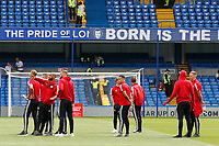 Sheffield United players survey the stadium during the Premier League match between Chelsea and Sheff United at Stamford Bridge, London, England on 31 August 2019. Photo by Carlton Myrie / PRiME Media Images.