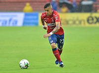 MEDELLIN- COLOMBIA, 24-03-2019 .Germán Cano jugador del Independiente Medellínconvierte de tiro penalty  un gol al  Envigado  durante partido por la fecha 11 de La Liga Aguila I 2019 ,jugado en el estadio Atanasio Girardot de la ciudad de Medellín / German Cano player of Independiente Medellin scores  the goal agaisnt of Envigado during match for the date 11 as part Aguila League I 2019 between Independiente Medellin  and Envigado played at Atanasio Girardot stadium in Medellin  city.  Photo: VizzorImage / León Monsalve  / Contribuidor
