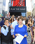 Kayla and husband on August 18, 2012 in Times Square, New York City, New York. (Photos by Sue Coflin/Max Photos)
