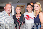 5555-5558.---------.Birthday.--------.Norma Galvan(2nd from the Lt)from Camp celebrated a special birthday dinner last Saturday night in the Brogue,Rock St Tralee,with her husband John(Lt)son Shane and Debra Buckley.