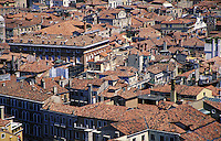 An overview of the city of Venice, skyline, cityscape, architecture. Venice, Italy.