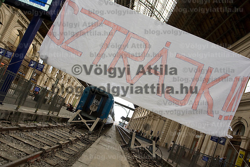 Hungarian national rail workers cancelled their work to protest government counter crisis actions.