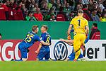 10.08.2019, wohninvest WESERSTADION, Bremen, GER, DFB-Pokal, 1. Runde, SV Atlas Delmenhorst vs SV Werder Bremen<br /> <br /> im Bild<br /> Jubel 1:2, <br /> Tom Schmidt (SV Atlas Delmenhorst #08) bejubelt seinen Treffer zum 1:2 mit Julian Harings (SV Atlas Delmenhorst #15), <br /> <br /> während DFB-Pokal Spiel zwischen SV Atlas Delmenhorst und SV Werder Bremen im wohninvest WESERSTADION, <br /> <br /> Foto © nordphoto / Ewert