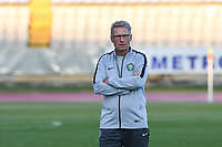 20190304 - LARNACA , CYPRUS : Swedish head coach of Nigeria Thomas Dennerby pictured during a women's soccer game between Nigeria and the Belgian Red Flames , on Monday 4 th March 2019 at the GSZ Stadium in Larnaca , Cyprus . This is the third and last game in group C for both teams during the Cyprus Womens Cup 2019 , a prestigious women soccer tournament as a preparation on the Uefa Women's Euro 2021 qualification duels. PHOTO SPORTPIX.BE | DAVID CATRY
