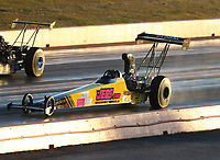 Oct 18, 2019; Ennis, TX, USA; NHRA top alcohol dragster driver Troy Coughlin Jr during qualifying for the Fall Nationals at the Texas Motorplex. Mandatory Credit: Mark J. Rebilas-USA TODAY Sports