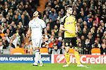 Real Madrid's Marcelo Vieira, Borussia Dortmund Julian during Champions League match between Real Madrid and Borussia Dortmund  at Santiago Bernabeu Stadium in Madrid , Spain. December 07, 2016. (ALTERPHOTOS/Rodrigo Jimenez)