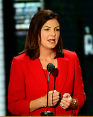 United States Senator Kelly Ayotte (Republican of New Hampshire) makes remarks at the 2012 Republican National Convention in Tampa Bay, Florida on Tuesday, August 28, 2012.  .Credit: Ron Sachs / CNP.(RESTRICTION: NO New York or New Jersey Newspapers or newspapers within a 75 mile radius of New York City)