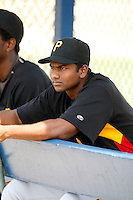 """July 13, 2009:  Pitcher Dinesh Patel of the GCL Pirates during a game at Tiger Town in Lakeland, FL.  Patel along with Rinku Singh were signed out of India through the contest """"The Million Dollar Arm"""".  The GCL Pirates are the Gulf Coast Rookie League affiliate of the Pittsburgh Pirates.  Photo By Mike Janes/Four Seam Images"""