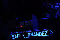 The Mexican rock band Caifanes, composed Hernadez Saul, Alfonso André and Sabo Romo returns to the stage. Image During her concert at the esplanade of Expoforum. hermosillo Sonora to June 20, 2014.
