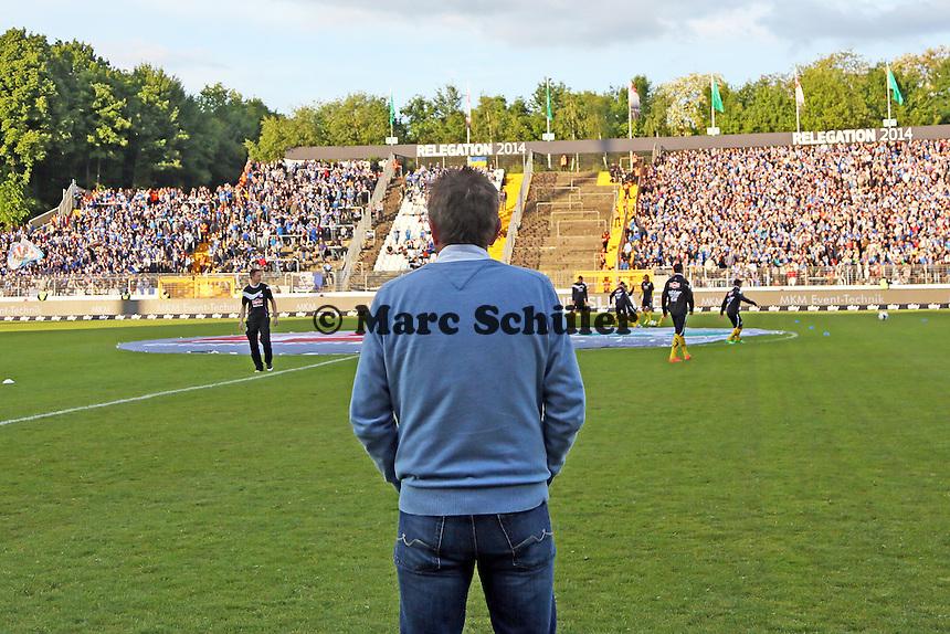 Trainer Norbert Meier (Bielefeld) - SV Darmstadt 98 vs. Armina Bielefeld, Stadion am Böllenfalltor