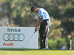 Anthony Kang (USA) tees off on the 3rd tee during the Final Day Sunday of the Open de Andalucia de Golf at Parador Golf Club Malaga 27th March 2011. (Photo Eoin Clarke/Golffile 2011)