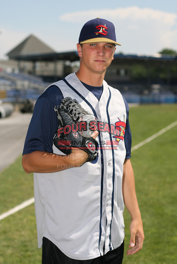 2007:  Anthony Watson of the State College Spikes poses for a photo prior to a game vs. the Batavia Muckdogs in New York-Penn League baseball action.  Photo By Mike Janes/Four Seam Images
