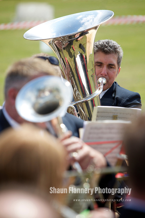 Pix: Shaun Flannery/shaunflanneryphotography.com...COPYRIGHT PICTURE>>SHAUN FLANNERY>01302-570814>>07778315553>>..11th June 2011...........Barnburgh & Harlington Carnival 2011..Brass Band
