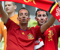 10.06.2012 Poland. Spanish fans before the European Championship Group C game between Spain and Italy from the PGE Arena Stadium.
