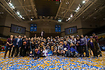 GRAND RAPIDS, MI - MARCH 18: Amherst College and their fans pose for a final photo during the Division III Women's Basketball Championship held at Van Noord Arena on March 18, 2017 in Grand Rapids, Michigan. Amherst College defeated Tufts University 52-29 for the national title. (Photo by Brady Kenniston/NCAA Photos via Getty Images)
